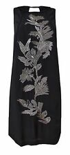 New Monsoon size 10 - 22 Black Sequin Embellished Party Shift Dress