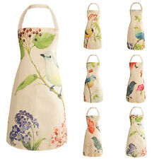 Colourful Birds Print Apron With Butterfly Floral Details