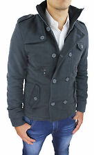 JACKET JACKET MAN SLIM FIT MILITARY PARKA DARK GREY S M L XL XXL 3XL