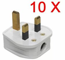 10 X 3 PIN PLUG UK 13 AMP FUSE POWER SOCKET ADAPTER HOUSEHOLD APPLIANCE MAINS UK
