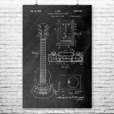 Gibson E-150 Electric Guitar Poster Patent Art Print Gift Player Guitarist Band