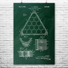Billiards Pool Ball Triangle Poster Patent Print Pool Triangle Billiards