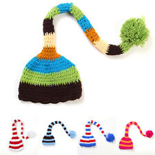 Newborn Baby Girls Boys Crochet Knit Hat Tail Beanie Cap Photo Photography Prop