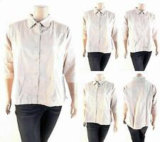 NWT Fashionable Cute Cotton Button-Down Shirt Top Womens Plus 1X/2X/3X