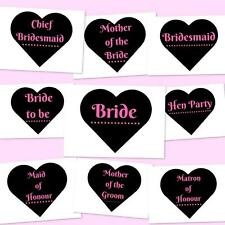 Wedding Hen Party Iron on T shirt Transfers Bride Bridesmaid Maid of Honour