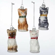 Cats Noble Gems Glass Ornament
