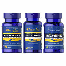 Puritain's Pride Melatonin 120-840 Tablets Sleep Aid Support Serotonin Boost