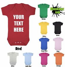 Personalised Babygrow vest Your Text Boy Girl Babies Clothes Gift Cool Present