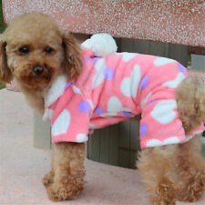 Pet Dog Puppy Cat Winter Warm Hoodie Clothes Sweater Costume Jacket Coat Apparel