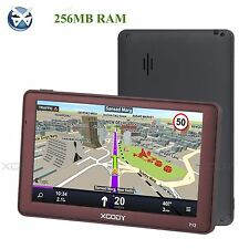 7''8GB Touch Screen SAT NAV Bluetooth 256MB RAM Car Truck GPS Navigation AV-IN