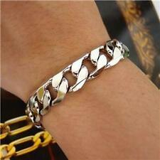 Bling 18K White or Yellow Gold Plated 12mm Chain Bracelet Anklet Birthday Gift