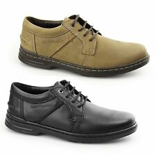 Hush Puppies BARNET HANSTON Mens Nubuck/Leather Dual Fit Lace Up Derby Shoes