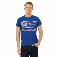 Wrangler Mens Navy Flag Printed T-Shirt From Debenhams