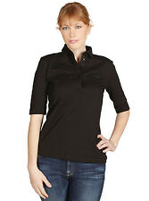 Lacoste Womens Half Sleeve Slim Fit Polo in Black