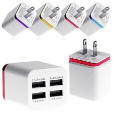 5V 1/2/4 Port USB Wall Charger Adapter Power Plug Fr Samsung iPhone 5S 6 6S Plus