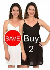 New 100% Cotton Dress Slip Combination - Spirituelle Celine 2 Pack Deal XS - 3XL