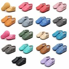Cute Baby Soft Crib Shoes Infants Leather Prewalkers Boys Girls Non-Slip Shoes
