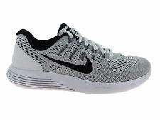 NEW MENS NIKE LUNARGLIDE 8 RUNNING SHOES TRAINERS WHITE / BLACK / WOLF GREY