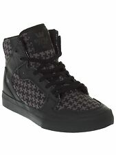 Supra Black-Houndstooth-Black Vaider Kids Hi Top Shoe