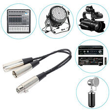 3-Pin XLR Female to Dual XLR Male Y Splitter Audio Cable Adapter Newest