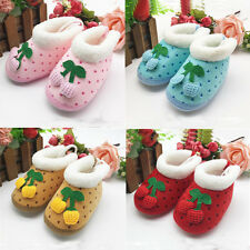 1 Pair Soft Non-Slip Shoes Toddler's New Winter Baby Infant Boots Polka Dot