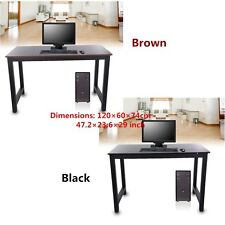 Modern 2Colors Wooden & Metal Computer PC Home Office Desk / Study Table Bedroom