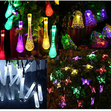 LEDs Solar Powered Xmas Tree Fairy String Lights Party Outdoor Garden Ornaments