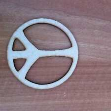 Wooden mdf Peace Sign shape Embellishment craft Blank various sizes E111