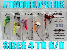 FREE POSTAGE 5X SEA FISHING RIGS ATTRACTOR FLAPPER RIGS COD BASS FLOUNDER PLAICE