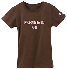 Pharaoh Hound Mom Tshirt Ladies Cut Short Sleeve Adult Small