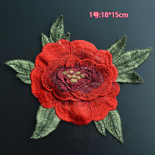 Color Flower Embroidered Applique Sew On Patch DIY For Clothing Dress Bag