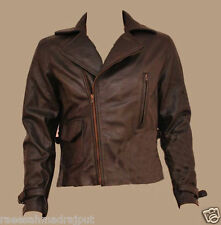 Captain  Brown Biker Cowhide Leather Jacket