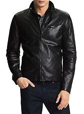 New Men's leather motorcycle jacket Slim fit cowhide leather jacket = LFCH - 695