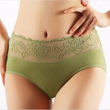 Sexy Women Modal Underpants High Waist Buttock Up Briefs Lace Underwear Lingerie