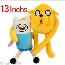 """2X Adventure Time With Finn andJake 13"""" Character Stuffed Animal Doll Plush Toy、"""