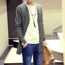 New Mens Knitted Sweater Stylish Casual Cardigan Long Sleeve Outwear Cloak Coat