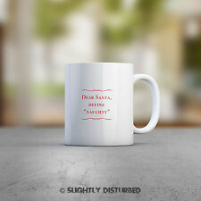 "Dear Santa, Define ""Naughty"" Mug. Christmas, Secret Santa, Stocking  Filler Gift"