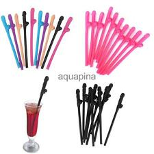 10 x Hen Night Party Accessories Novelty Willy Penis Drinking Straws