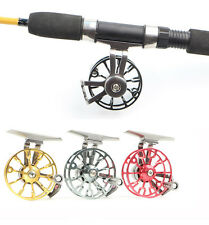 Gold Red Fly Fishing Reel Aluminum Metal Drag Water Fly Fishing Tackle Reel