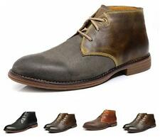 Fashion Mens Ankle Boots leather  Chelsea Brogue fur lined Wing Tip Dress Shoes