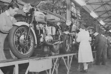 Triumph T120 Bonneville final assembly in Triumph plant 1959 – photograph