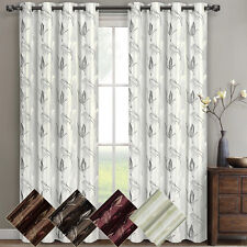 """Olivia Embroidered Lined Grommet Window Curtain (Set of 2) Panels 104W x 108""""L"""