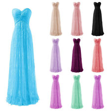 New Long Lace Formal Prom Dress Party Ball Gown Evening Dresses Stock Size 6-20+