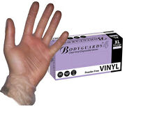 Bodyguard Clear Vinyl Gloves Disposable Powder Free Food Cleaning