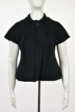 Mike & Chris Womens Black Basic Jacket Sz XS Cotton Short Sleeve Casual