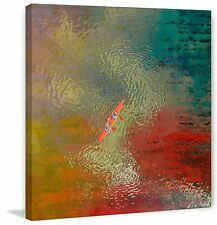 Parvez Taj - Red Kayak Painting Print on Wrapped Canvas -Ready to Hang Artwork