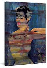Parvez Taj - Bright Red Lips Painting Print on Wrapped Canvas -Ready to Hang Art