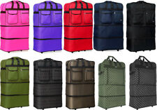 "Pack of 4, 30""/36""/40""Expandable Rolling Wheeled Duffel Spinner Suitcase Luggage"