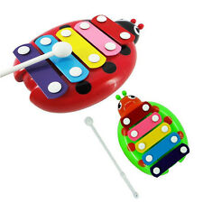 Trendy 5-Note Xylophone Musical Beetle Toy Baby Kids Wisdom Developmental Toys