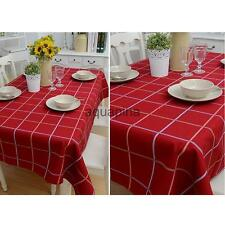 British Style Tablecloth Red Plaid Square/Rectangular Table Cover Home Party
